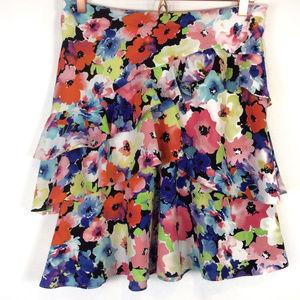 Lauren Ralph Lauren Tiered Floral Bright Skirt 4